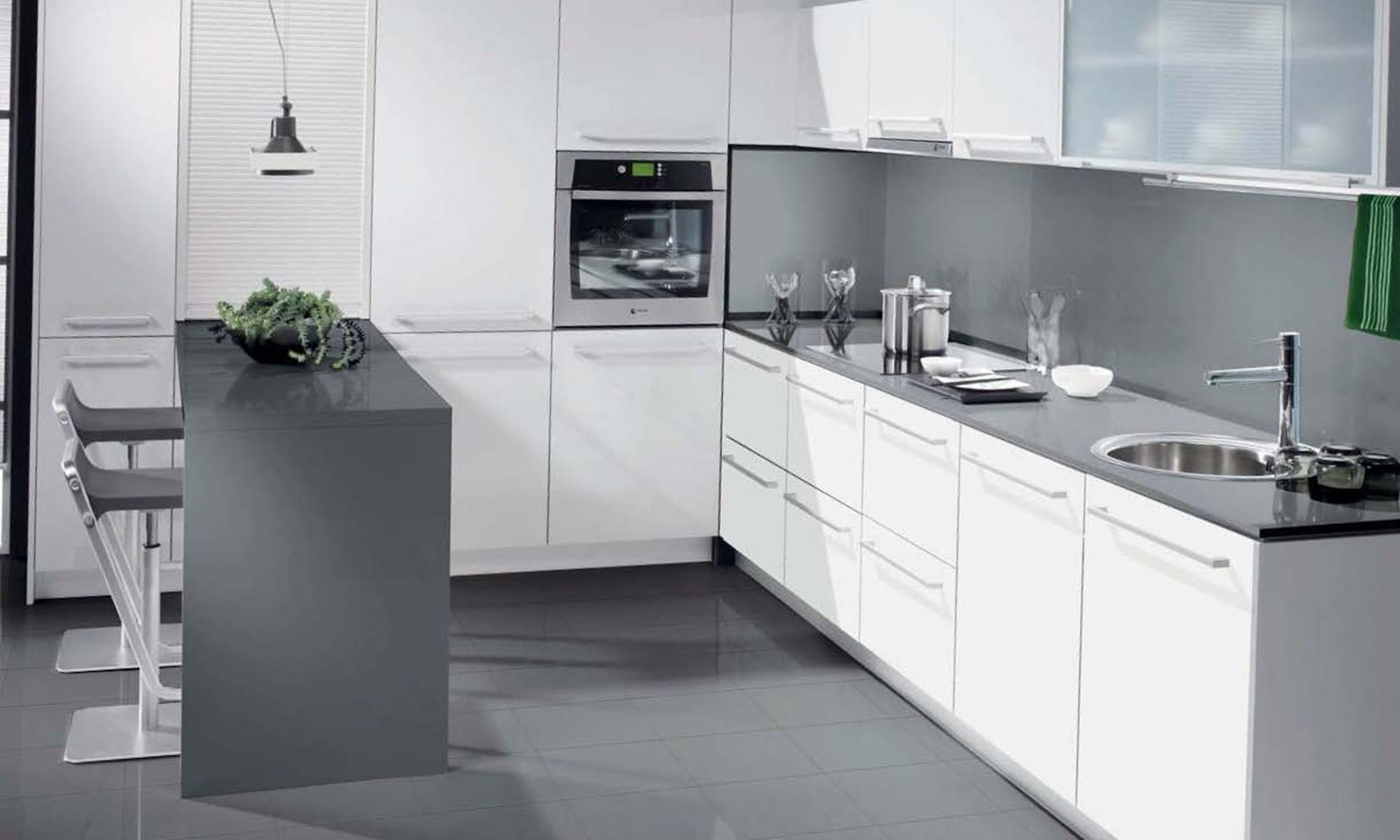 Cocina paladio disquain for Cocinas blancas y grises